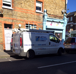 Drain clearance at rear of property in Ballina Street, Honor Oak Park, Forest Hill SE23